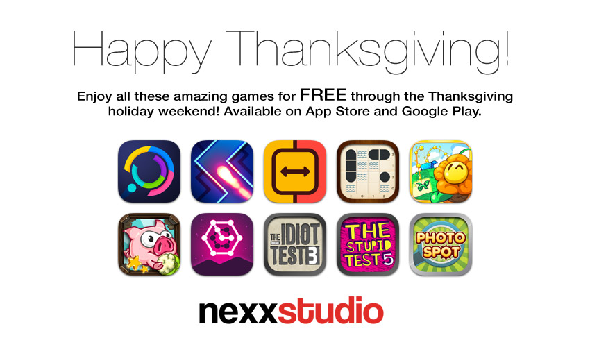 Nexx Studio Thanksgiving Giveaway 2016