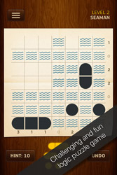 Warship Solitaire - iOS Sudoku Picross puzzle game