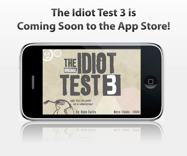 The Idiot Test 3 coming to iPhone App Store
