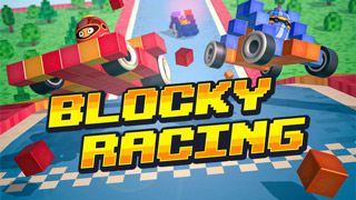 Blocky Racing kart racing on iOS & Android